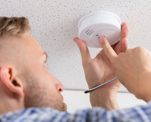 Smoke detector safety and maintenance